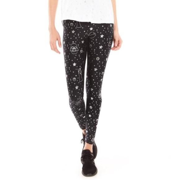 120aa9c8dd78c Terez Pants | Star Wars Silver Foil Leggings Nwt | Poshmark